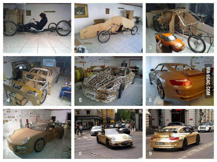 How to make a Porsche with bicycles
